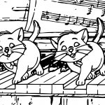 Disney The Aristocats Playing Piano Coloring Page
