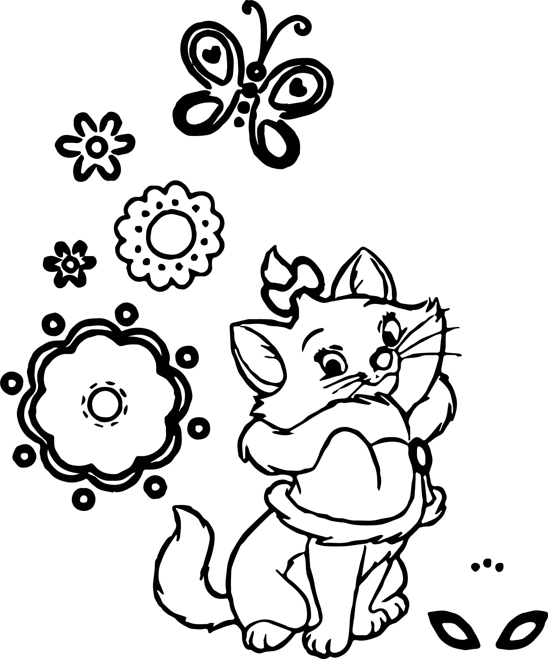 Disney The Aristocats Shape Coloring Page