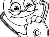 Doctor Emoticon Coloring Page