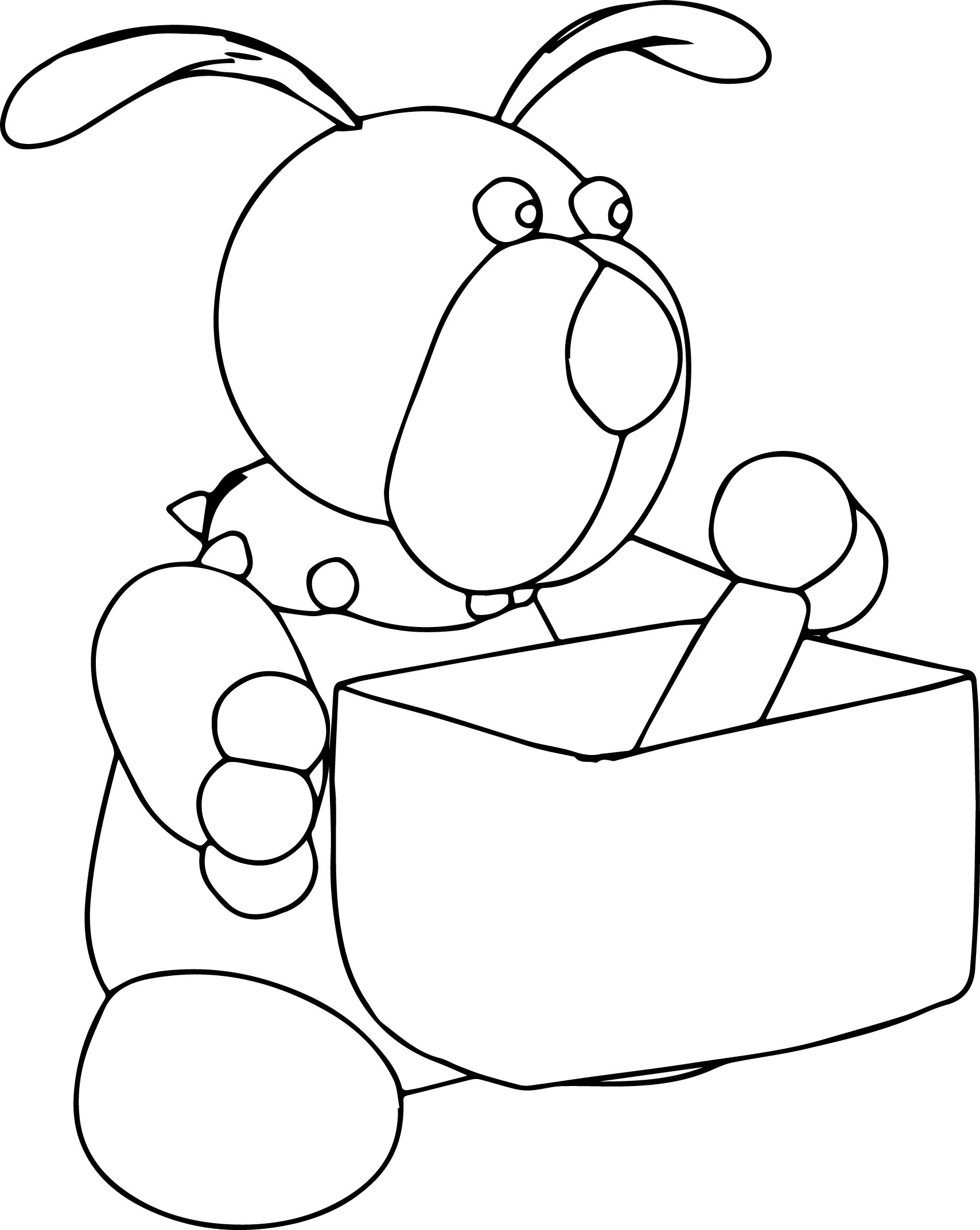 Dog bone box coloring page for Coloring pages of dog bones