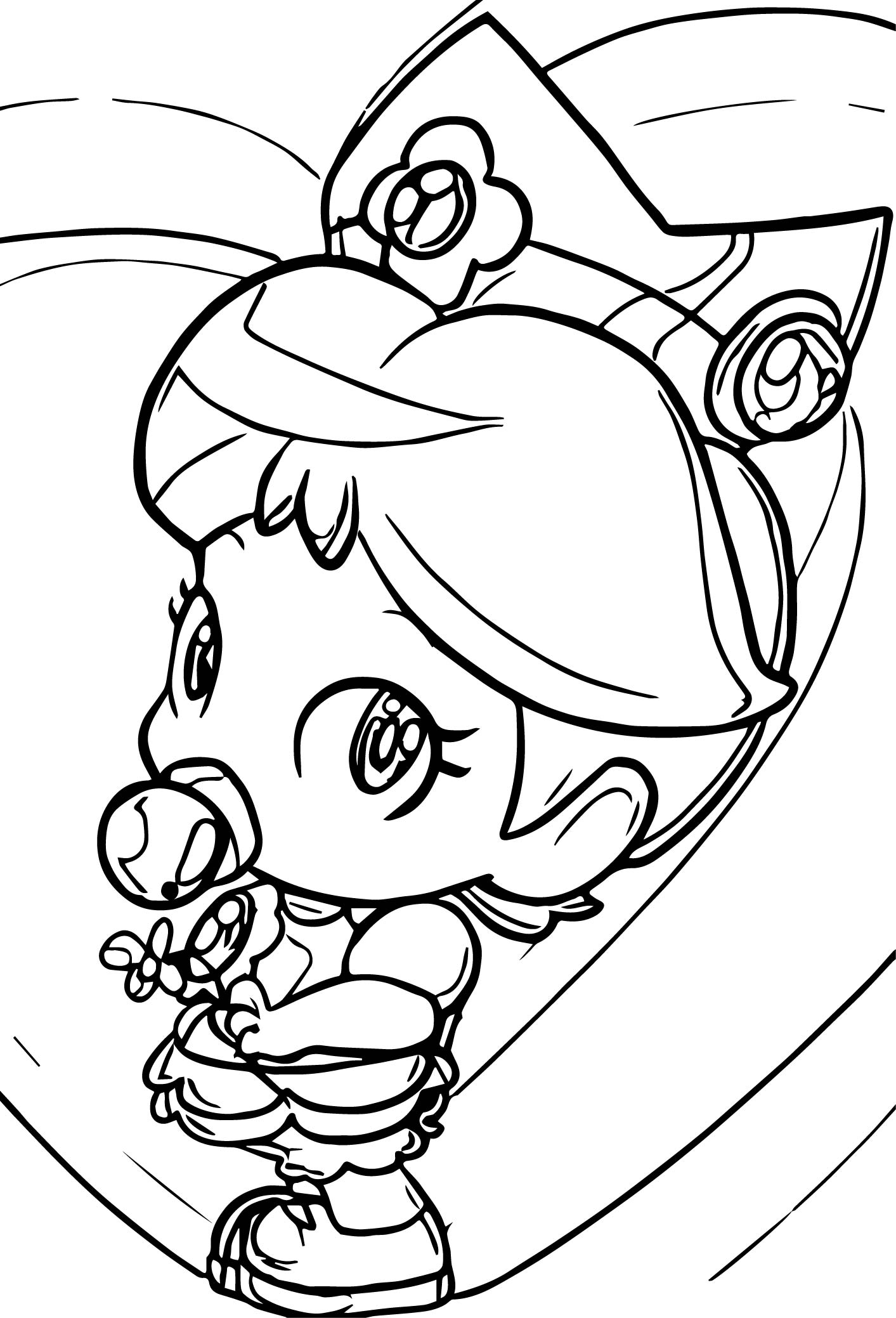 Draw Baby Daisy Coloring Page