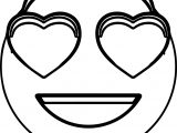 Emology Love Smiley Emoticon Coloring Page