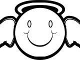 Emology Smiley Emoticon Angel Man Coloring Page