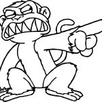 Evil Monkey Baboon Coloring Page