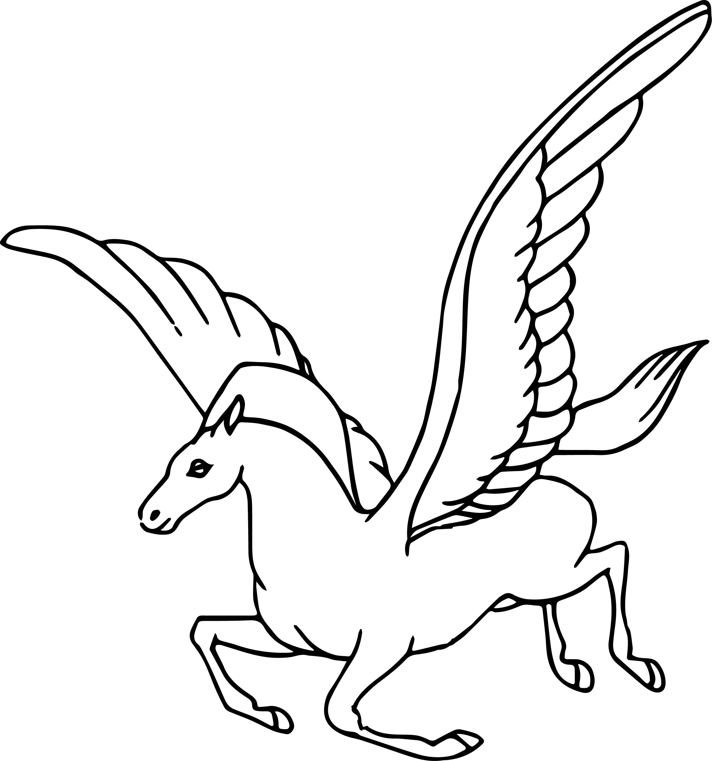 Fantasia pegasus coloring pages for Coloring pages of pegasus