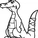 Fatique Crocodile Alligator Coloring Page