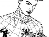 First Time Unmasked Spider Man Coloring Page
