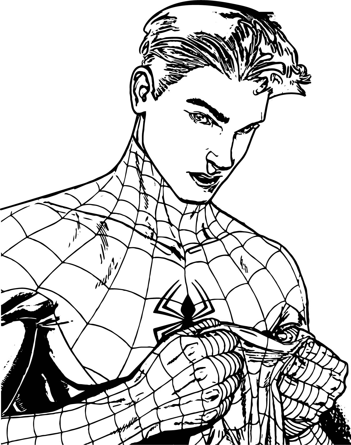 mysterio spiderman coloring pages - photo#12
