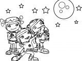Floogals Look Moon Coloring Page