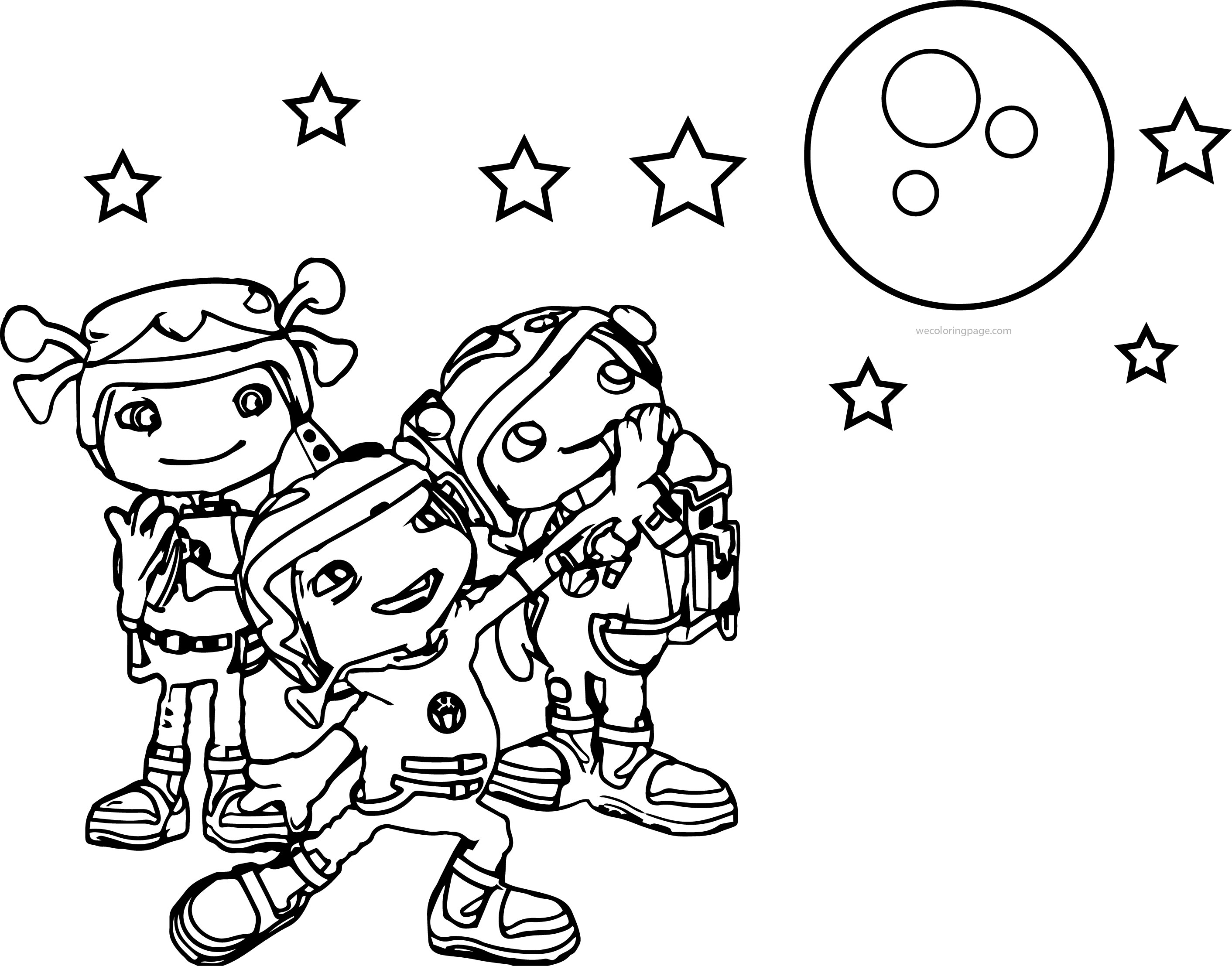 Floogals Look Moon Coloring Page | Wecoloringpage
