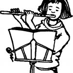 Flute Player Color Coloring Page