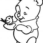 Free Baby Pooh Book Coloring Page