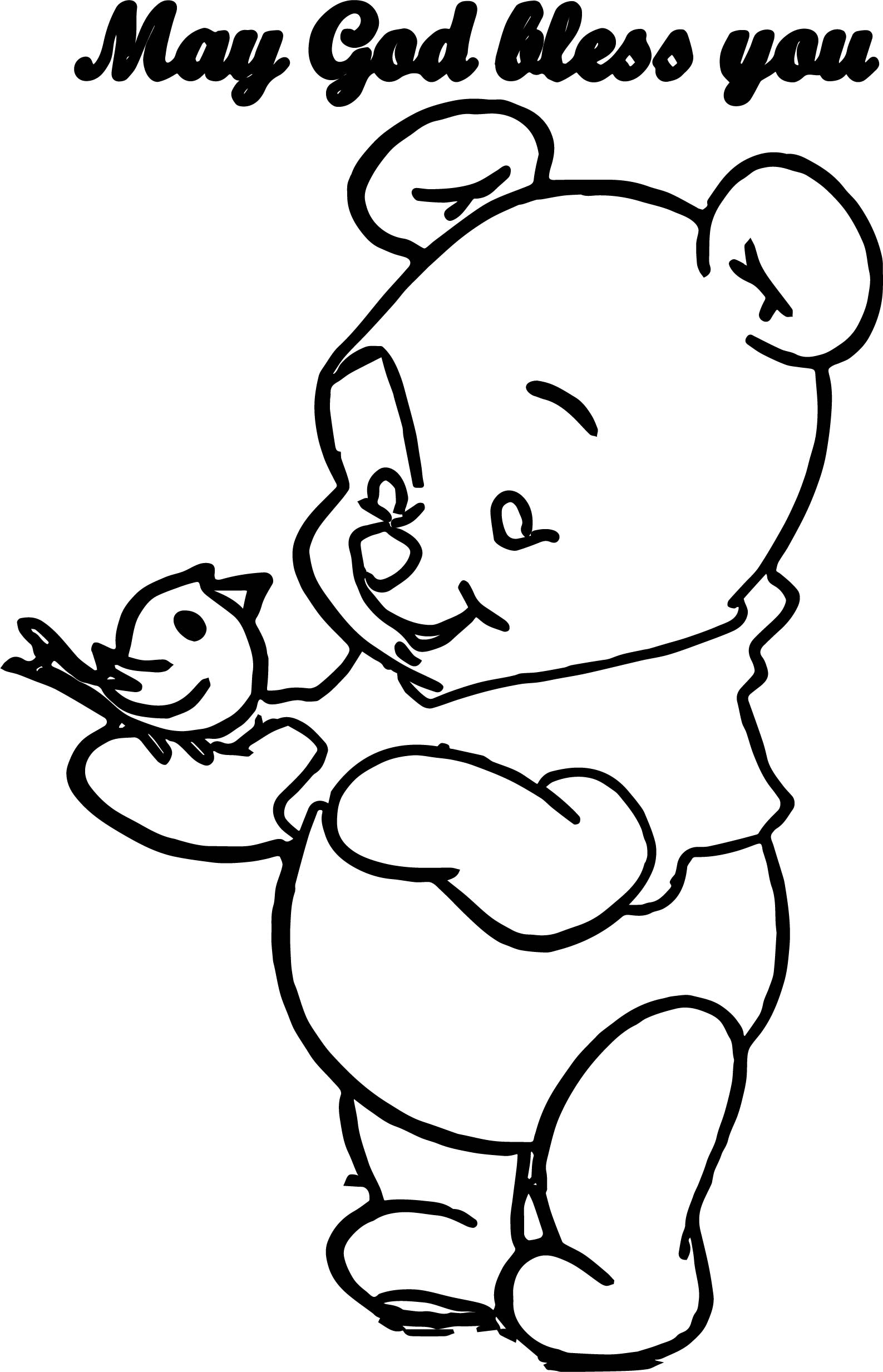 free pooh bear coloring pages - free baby pooh book coloring page