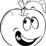 Free Food Apple Of Public Coloring Page