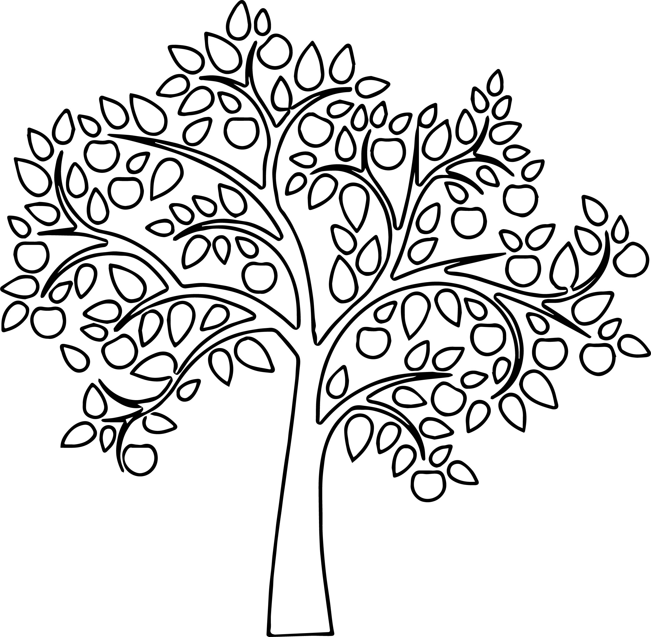 fresh apple tree coloring page - Apple Tree Coloring Page