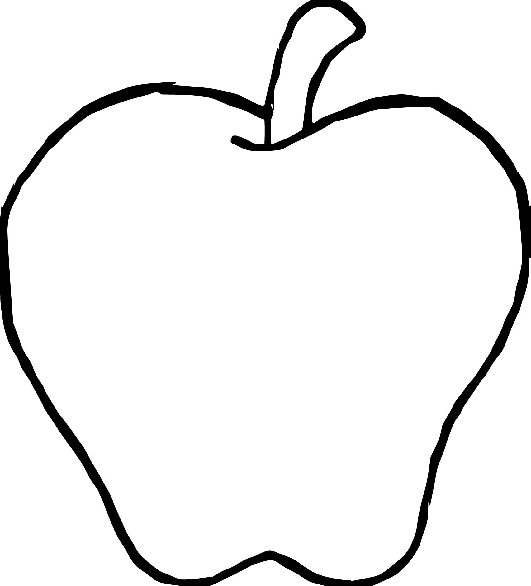 Fruit apple coloring page for Apple coloring pages