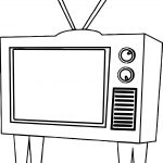 Funky Old TV Coloring Page