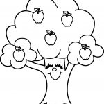 Funny Apple Tree Coloring Page
