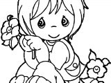 Funny Baby Girl Cute Baby Images Coloring Page