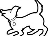 Funny Dog Coloring Page