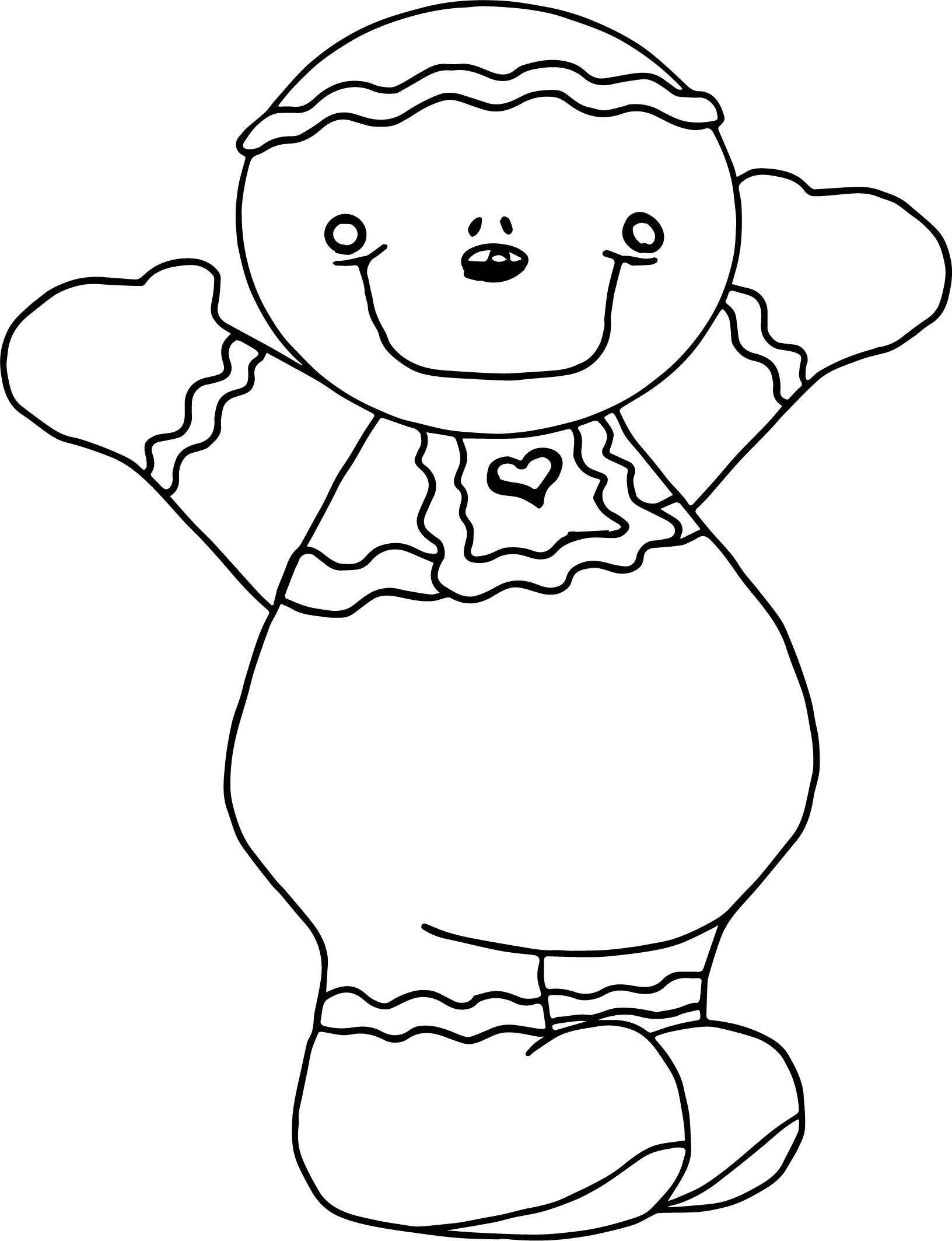 gingerbread bear coloring page wecoloringpage