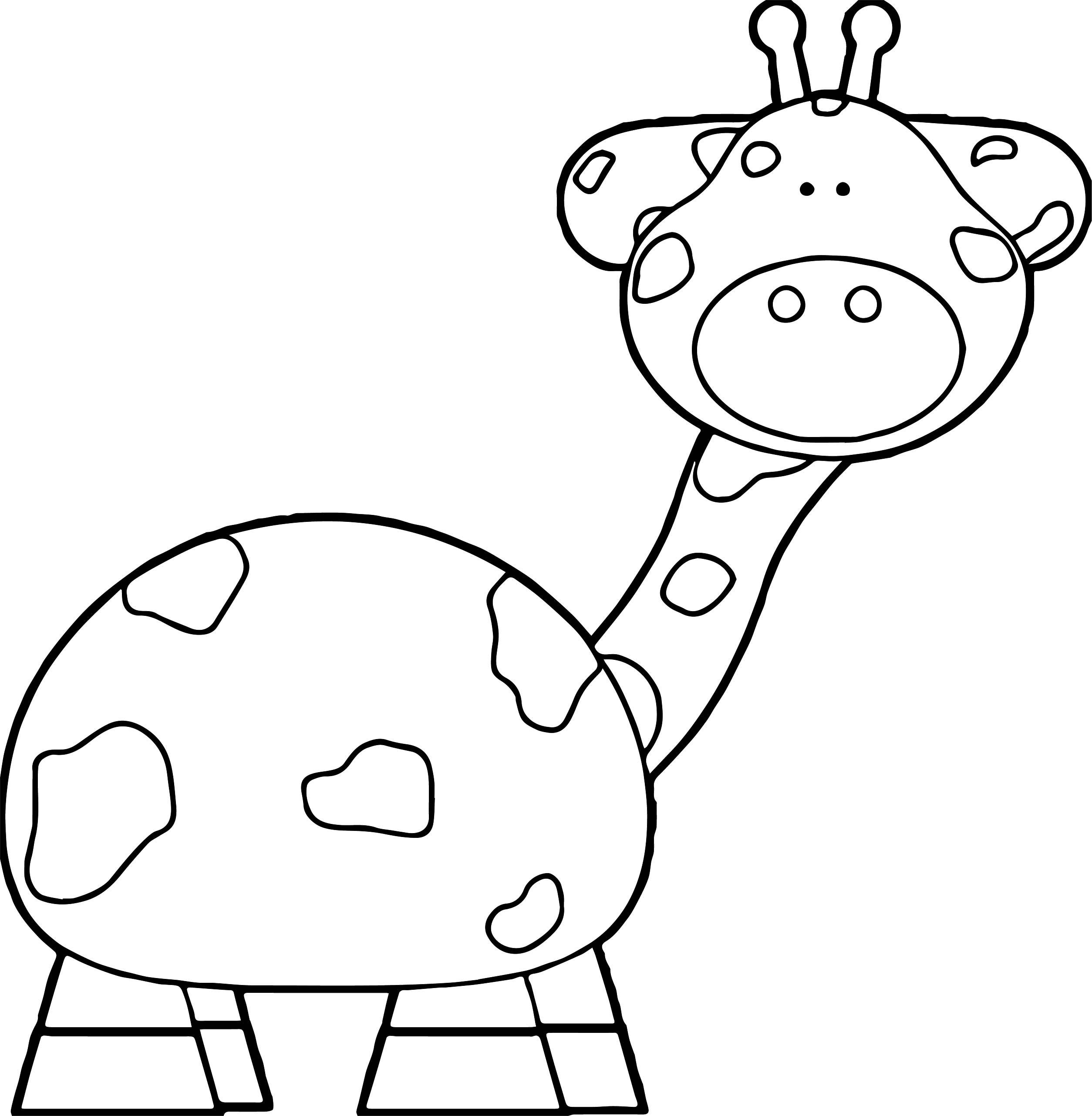 Giraffe Helpful Coloring Page