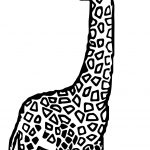 Giraffe Look Coloring Page