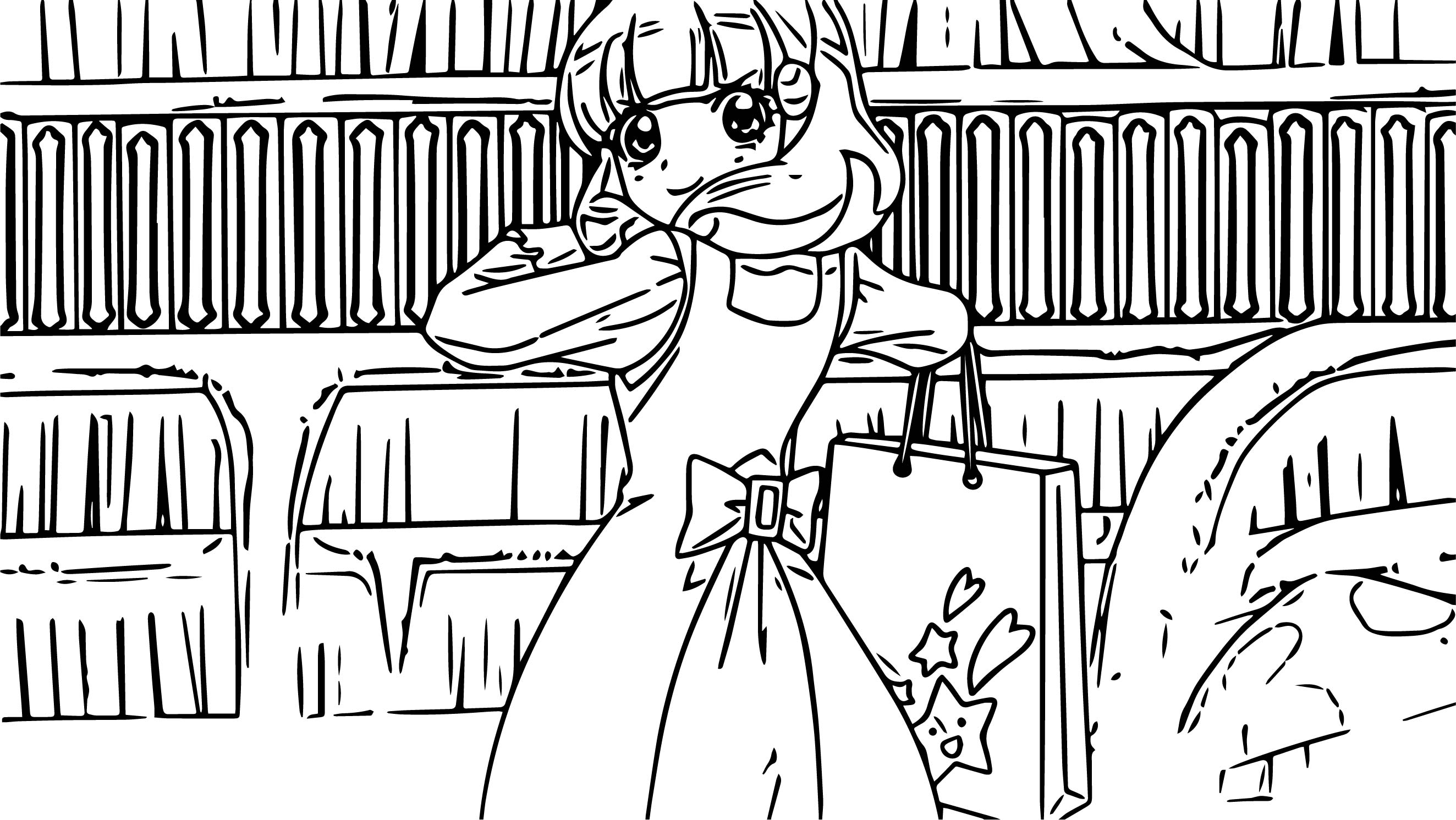 glitter force shopping coloring page wecoloringpage