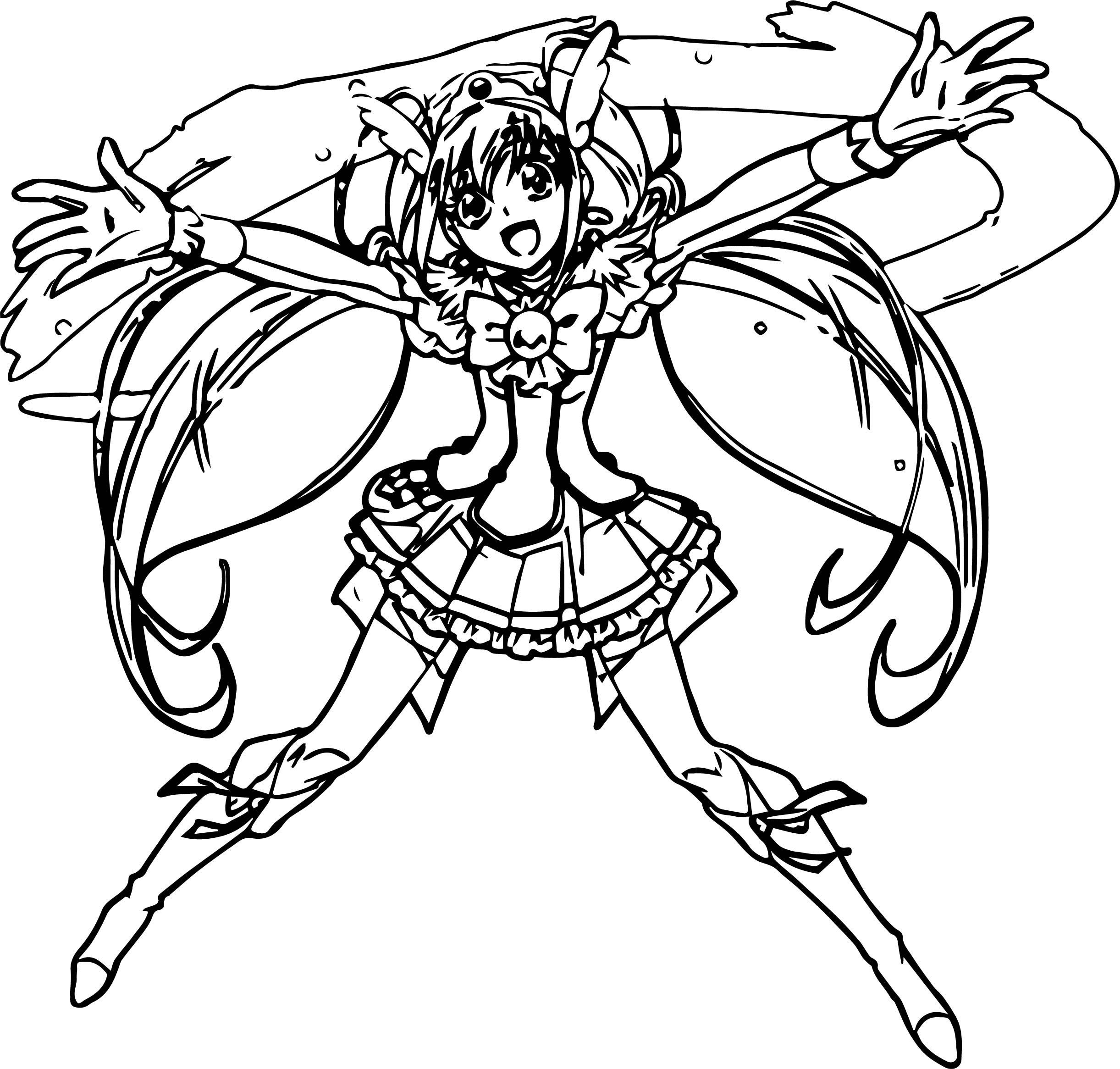 Glitter Force Loving Coloring Page