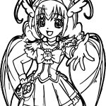 Glitter Force Peace Time Coloring Page