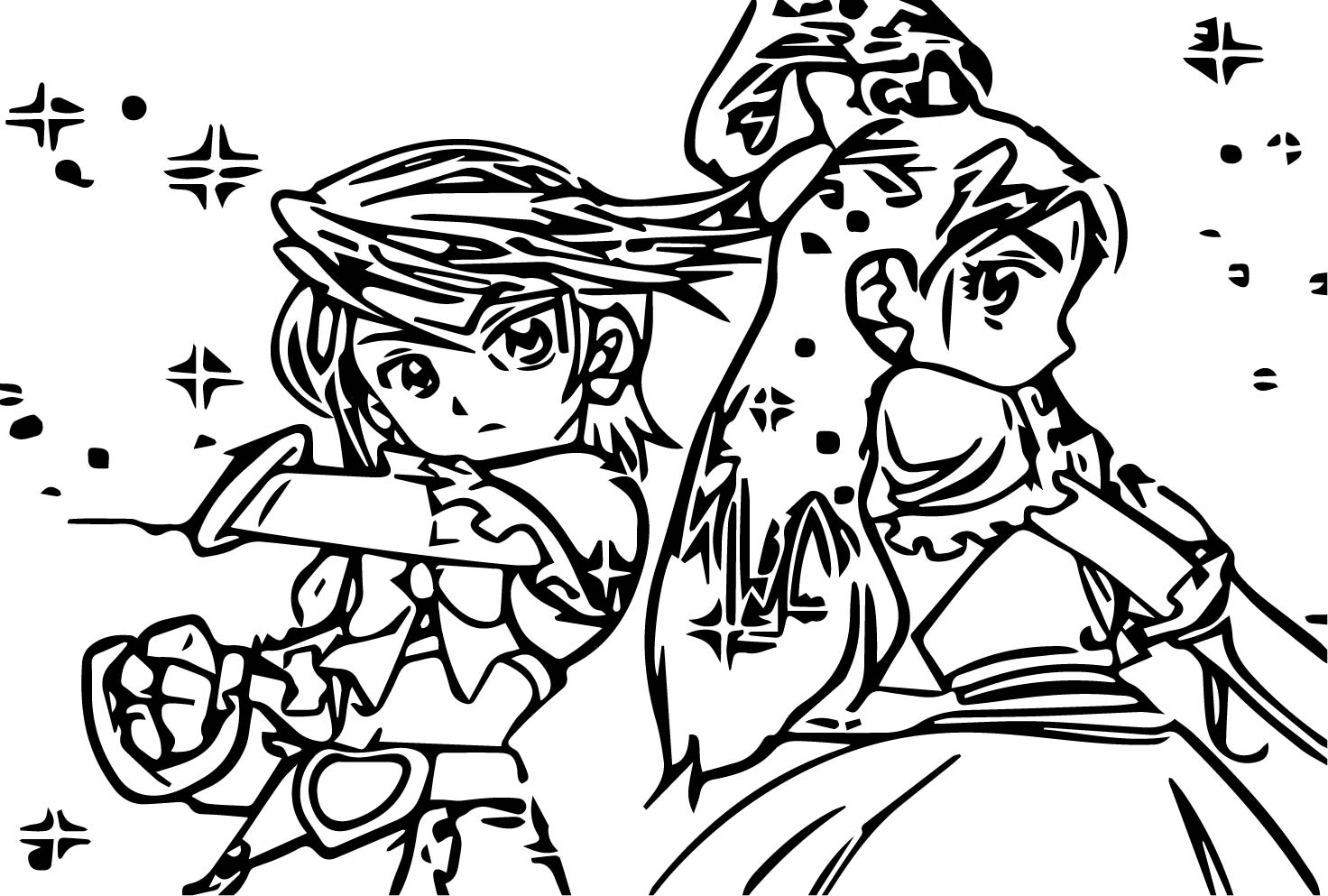 Glitter Force Ready Coloring Page