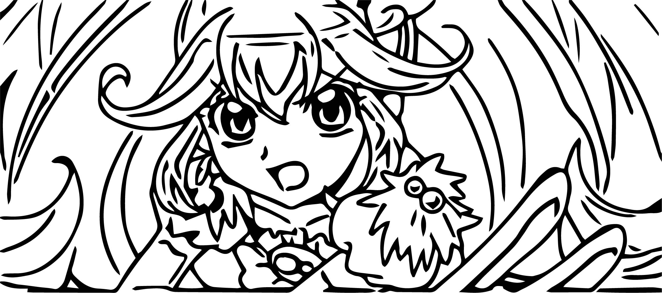 Glitter Force Story Coloring Page