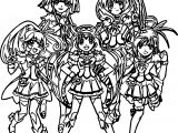 Glitter Force Team Coloring Pages