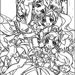 Glitter Force Three Beauty Girls Coloring Page