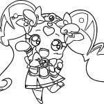 Glitter Force Toy Girl Coloring Page