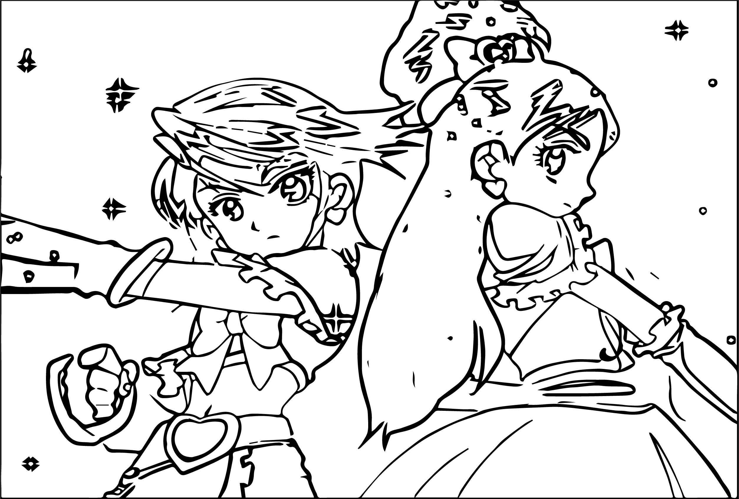Glitter Force Warrior Coloring Page