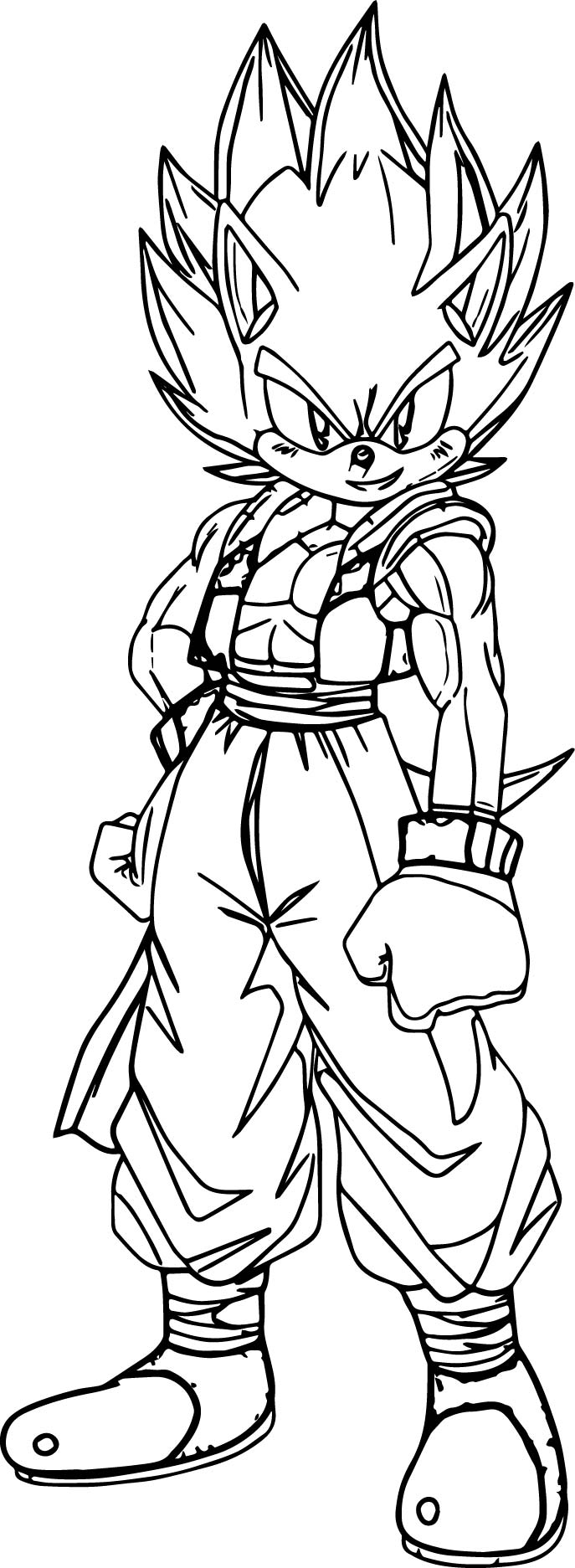 goku sonic coloring page