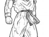 Goku Style Coloring Page