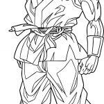 Goku Waiting Coloring Page