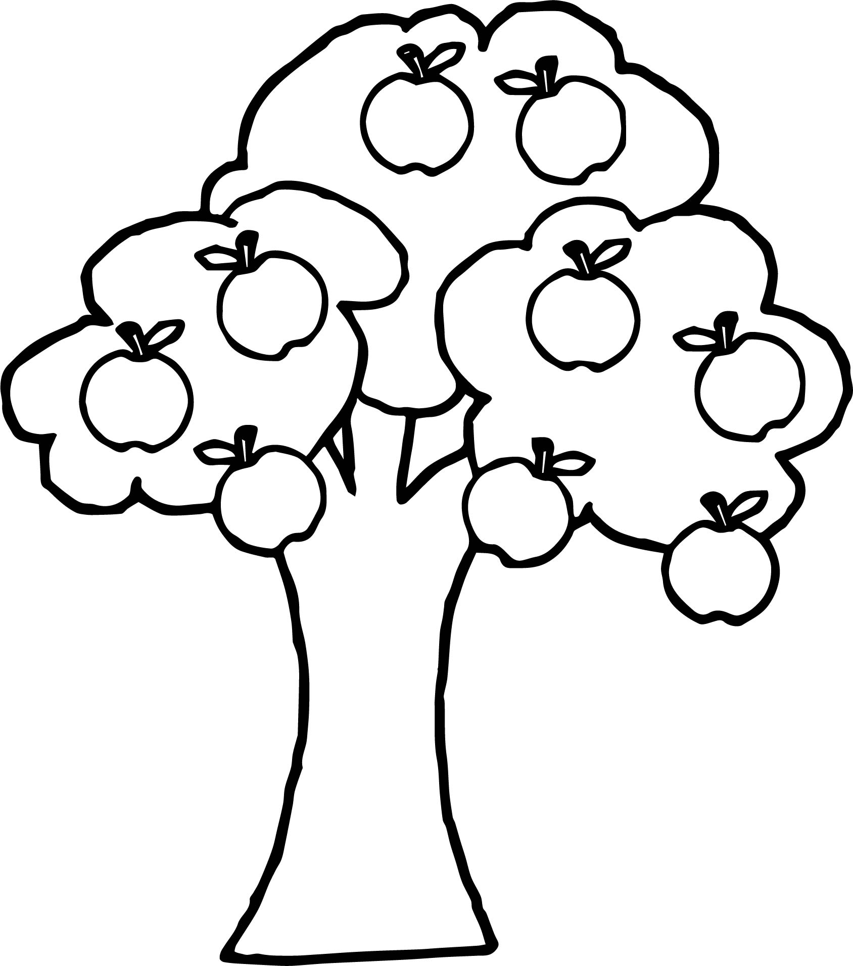 Good Apple Tree Coloring Page