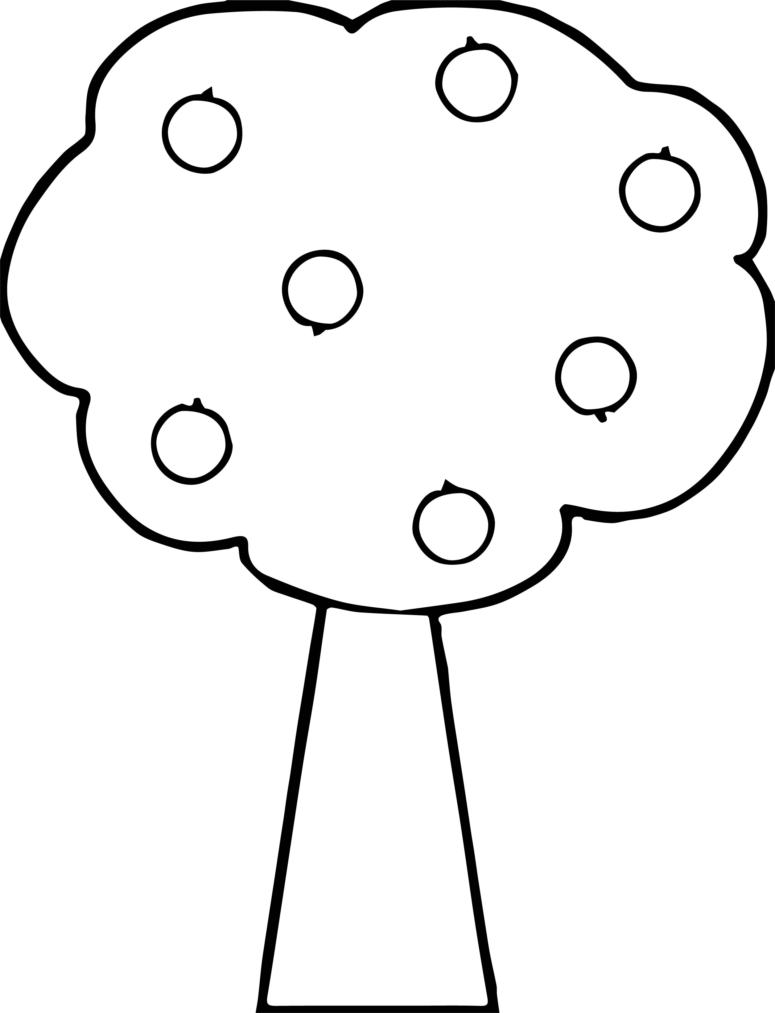 good apple tree coloring pages - Apple Tree Coloring Page