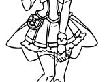 Happy Glitter Force Coloring Page