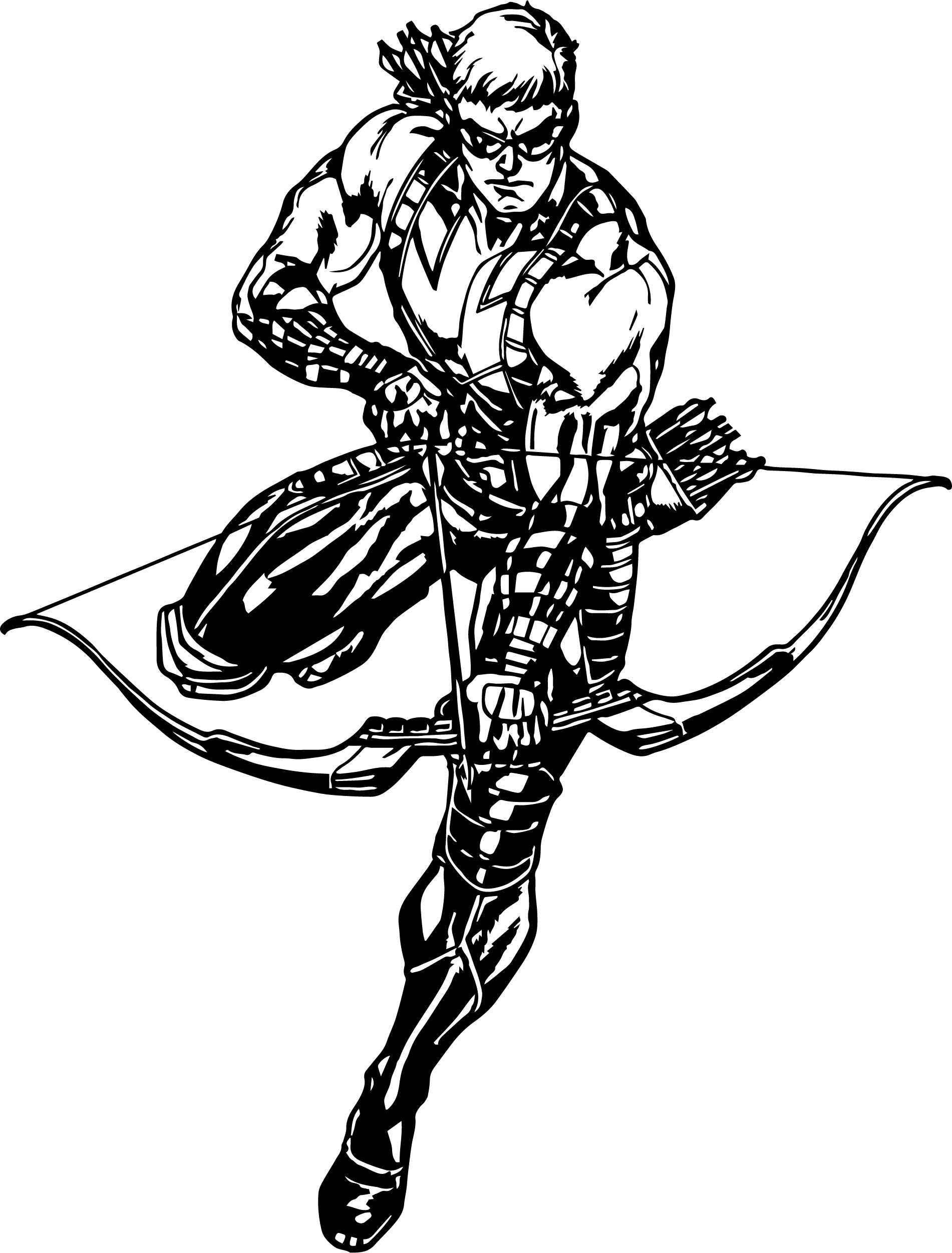 Hawkeye Avengers Assemble Coloring Page
