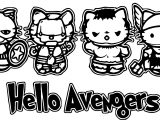 Hello Avengers Small Avengers Cartoon Coloring Page