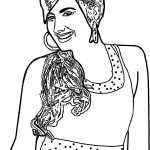 High School Musical Characters Sharpay Evans Coloring Pages