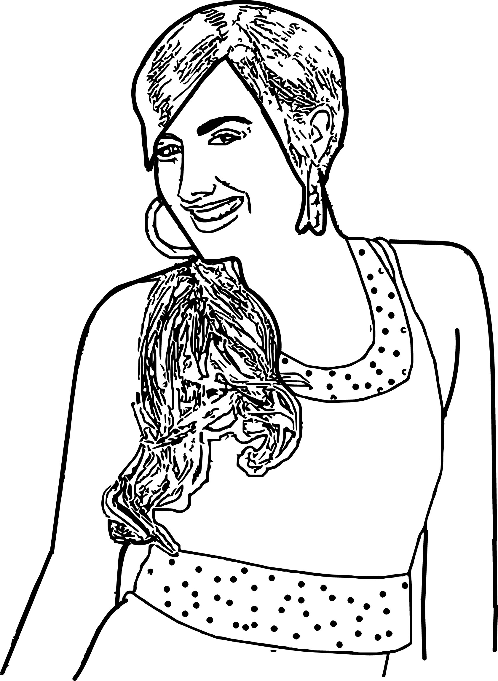 High School Musical Characters Sharpay Evans Coloring Pages ...