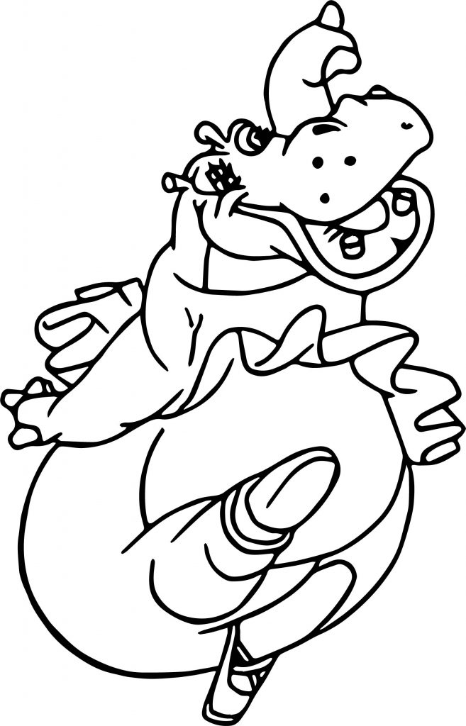 Magnificent Fantasia Hippo Coloring Pages Embellishment - Examples ...