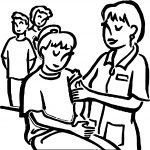 Immunizations Coloring Page