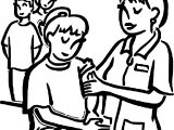 Immunizations Coloring Page