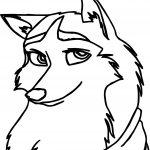 Jenna Balto Wolf Coloring Page